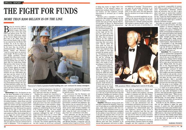 Article Preview: THE FIGHT FOR FUNDS, March 1992 | Maclean's