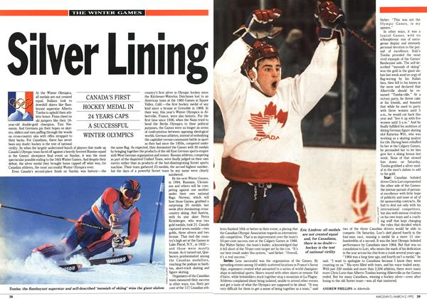 Article Preview: Silver Lining, March 1992 | Maclean's