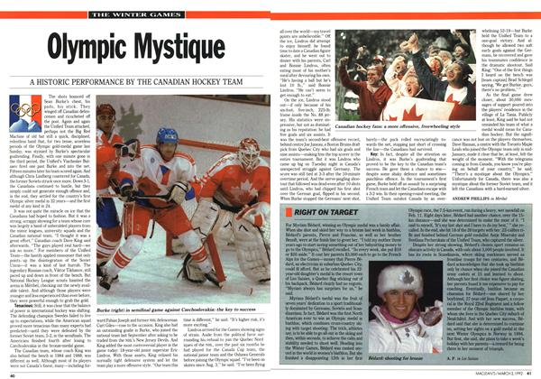 Article Preview: Olympic Mystique, March 1992 | Maclean's