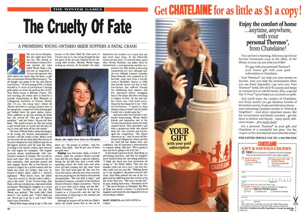 Article Preview: The Cruelty Of Fate, March 1992 | Maclean's