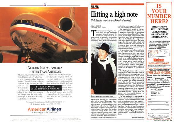 Article Preview: Hitting a high note, March 1992 | Maclean's