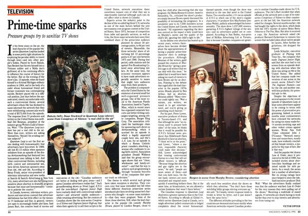 Article Preview: Prime-time sparks, March 1992 | Maclean's