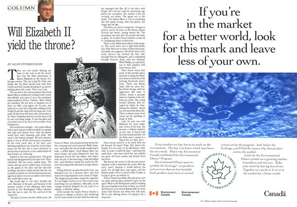 Article Preview: Will Elizabeth II yield the throne?, March 1992 | Maclean's