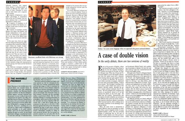 Article Preview: A case of double vision, March 1992 | Maclean's