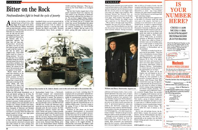 Article Preview: Bitter on the Rock, March 1992 | Maclean's