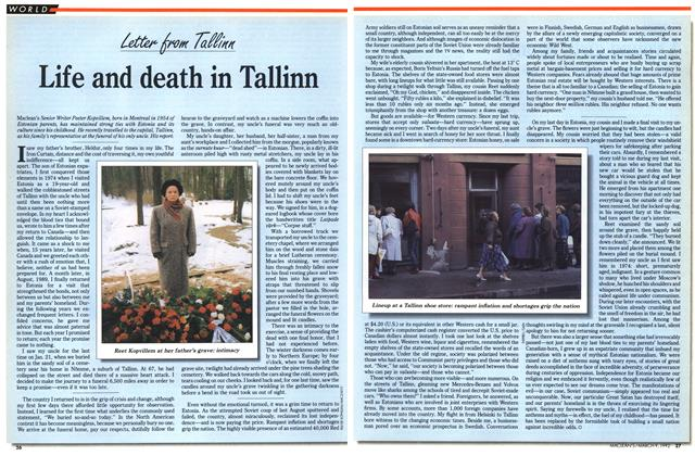 Article Preview: Life and death in Tallinn, March 1992 | Maclean's