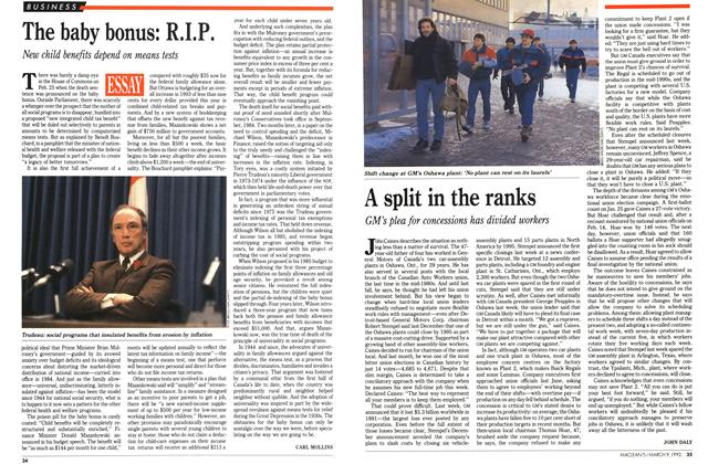 Article Preview: A split in the ranks, March 1992 | Maclean's
