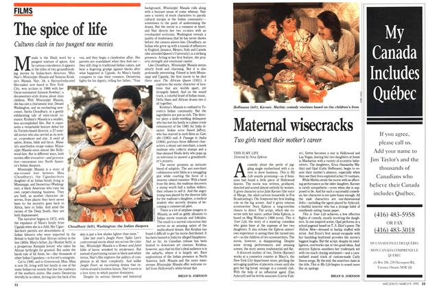 Article Preview: The spice of life, March 1992 | Maclean's