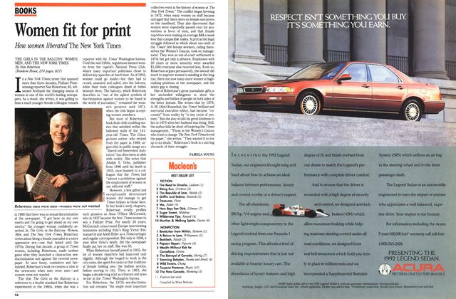 Article Preview: Women fit for print, March 1992 | Maclean's