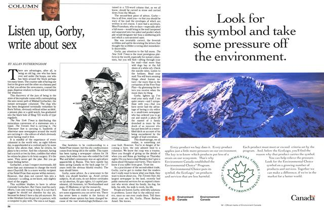Article Preview: Listen up, Gorby, write about sex, March 1992 | Maclean's