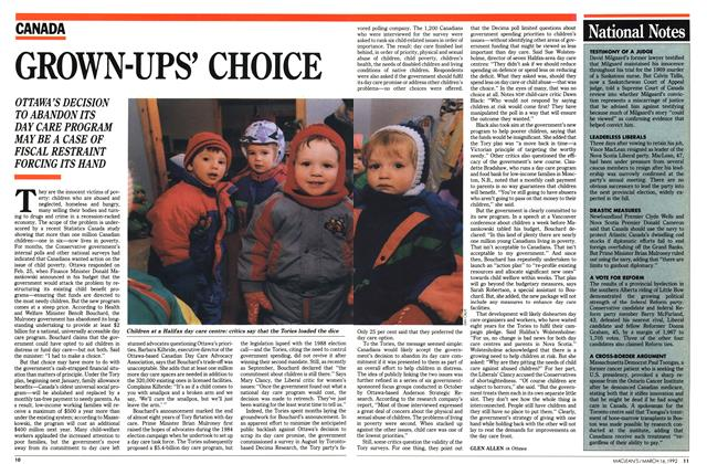 Article Preview: GROWN-UPS' CHOICE, March 1992 | Maclean's