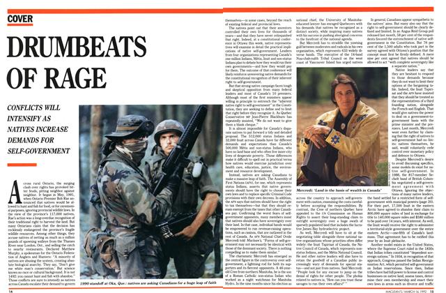 Article Preview: DRUMBEATS OF RAGE, March 1992 | Maclean's