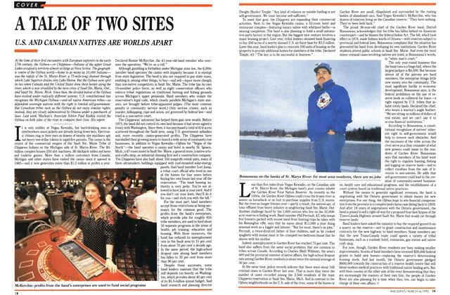 Article Preview: A TALE OF TWO SITES, March 1992 | Maclean's