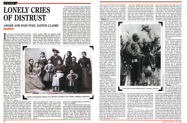 Article Preview: LONELY CRIES OF DISTRUST, March 1992 | Maclean's