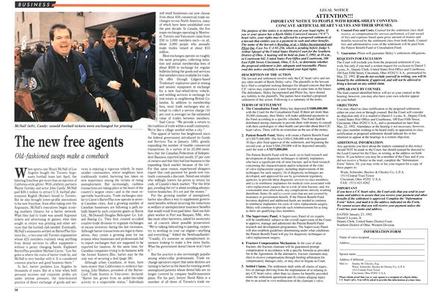 Article Preview: The new free agents, March 1992 | Maclean's