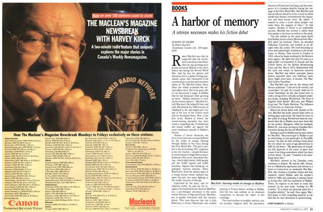 Article Preview: A harbor of memory, March 1992 | Maclean's
