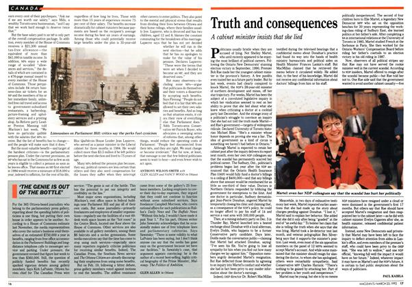 Article Preview: Truth and consequences, March 1992 | Maclean's