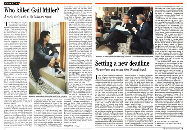 Article Preview: Who killed Gail Miller?, March 1992 | Maclean's