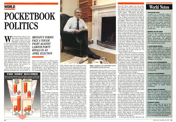 Article Preview: POCKETBOOK POLITICS, March 1992 | Maclean's