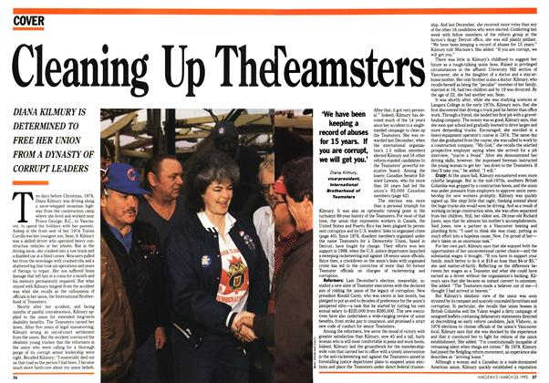 Article Preview: Cleaning Up The Teamsters, March 1992 | Maclean's
