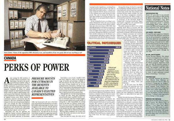 Article Preview: PERKS OF POWER, March 1992 | Maclean's
