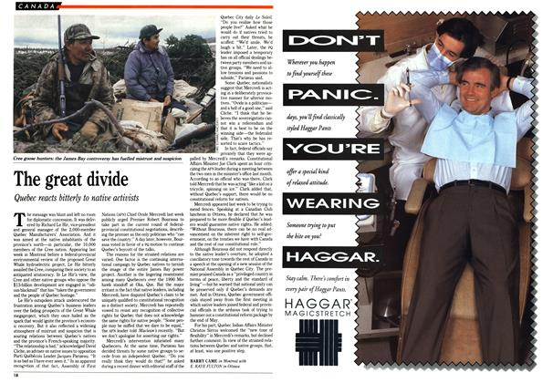 Article Preview: The great divide, March 1992 | Maclean's
