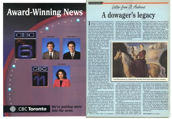 Article Preview: A dowager's legacy, March 1992 | Maclean's