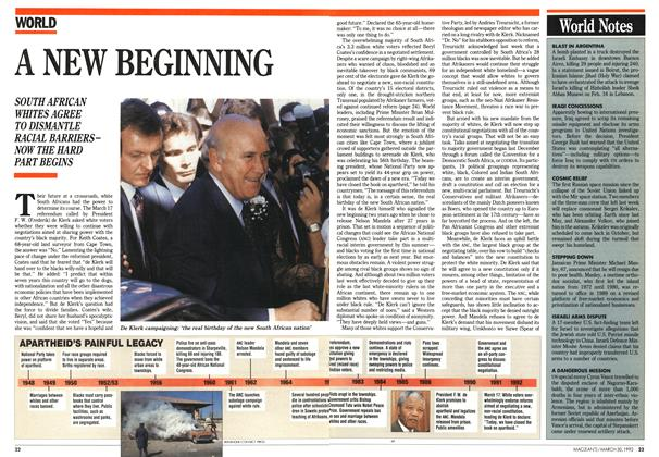 Article Preview: A NEW BEGINNING, March 1992 | Maclean's