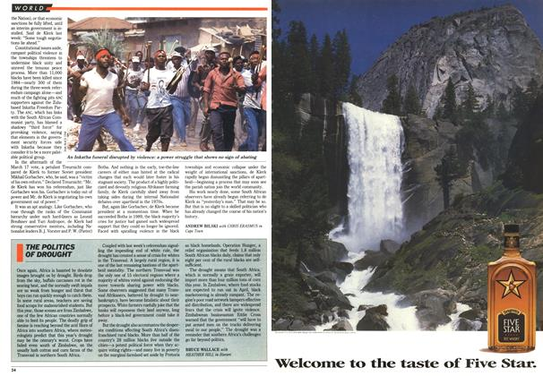 Article Preview: THE POLITICS OF DROUGHT, March 1992 | Maclean's