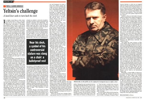 Article Preview: Yeltsin's challenge, March 1992 | Maclean's