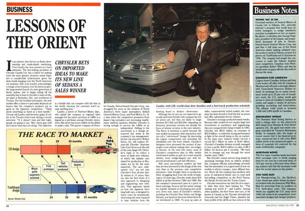 Article Preview: LESSONS OF THE ORIENT, March 1992 | Maclean's