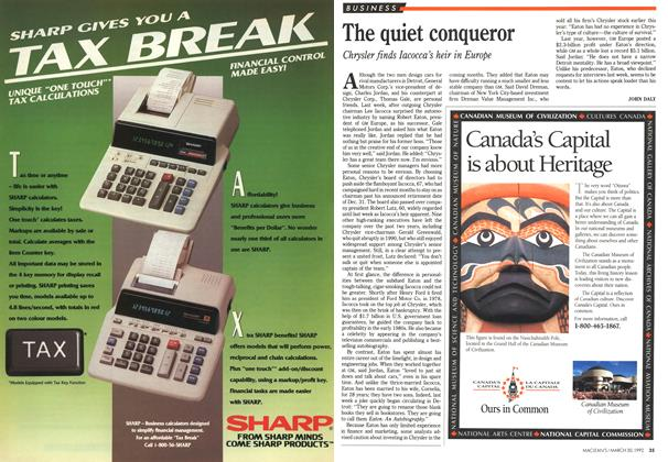 Article Preview: The quiet conqueror, March 1992 | Maclean's