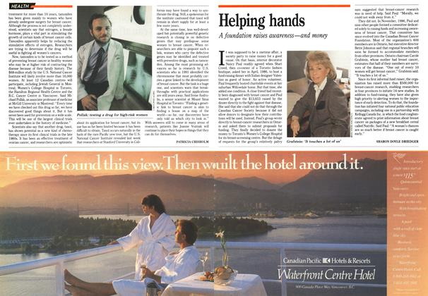 Article Preview: Helping hands, March 1992 | Maclean's