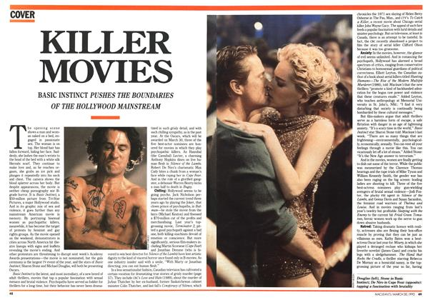 Article Preview: KILLER MOVIES, March 1992 | Maclean's