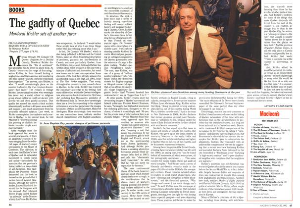 Article Preview: The gadfly of Quebec, March 1992 | Maclean's