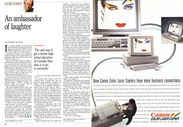 Article Preview: An ambassador of laughter, March 1992 | Maclean's