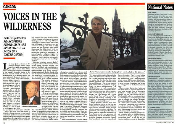 Article Preview: VOICES IN THE WILDERNESS, April 1992 | Maclean's