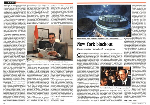 Article Preview: New York blackout, April 1992 | Maclean's