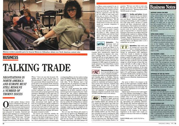 Article Preview: TALKING TRADE, April 1992 | Maclean's