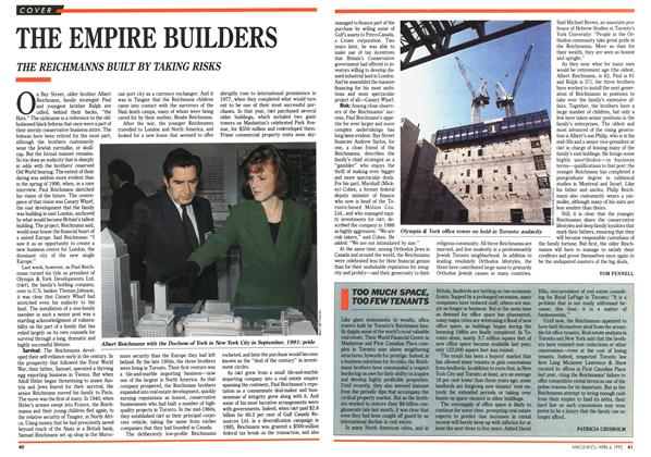 Article Preview: THE EMPIRE BUILDERS, April 1992 | Maclean's