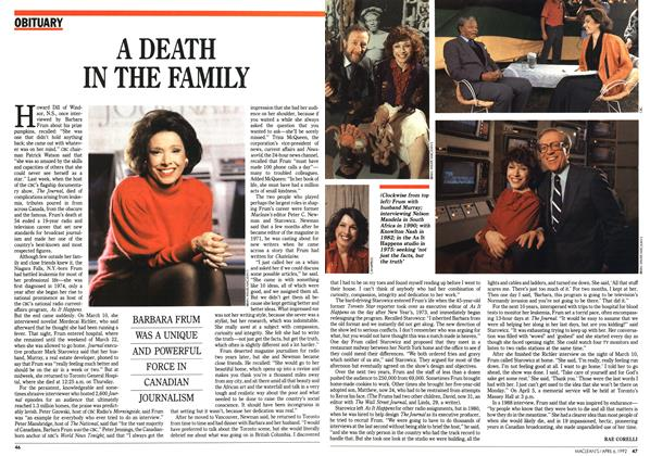 Article Preview: A DEATH IN THE FAMILY, April 1992 | Maclean's