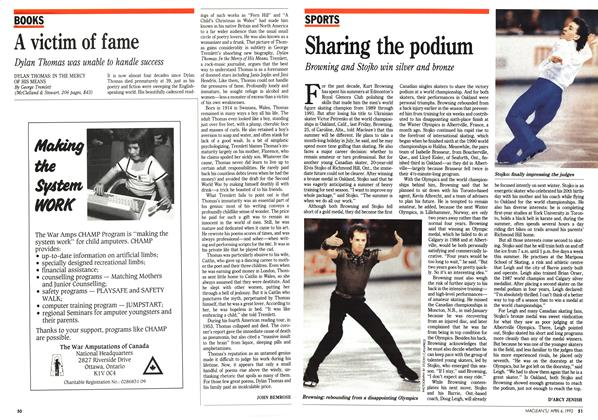Article Preview: Sharing the podium, April 1992 | Maclean's
