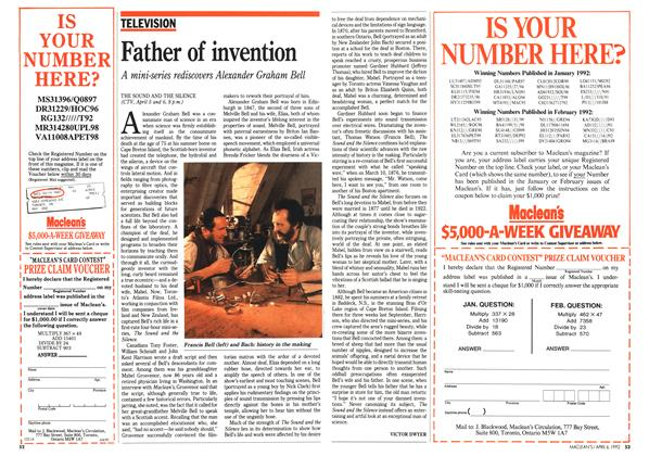 Article Preview: Father of invention, April 1992 | Maclean's
