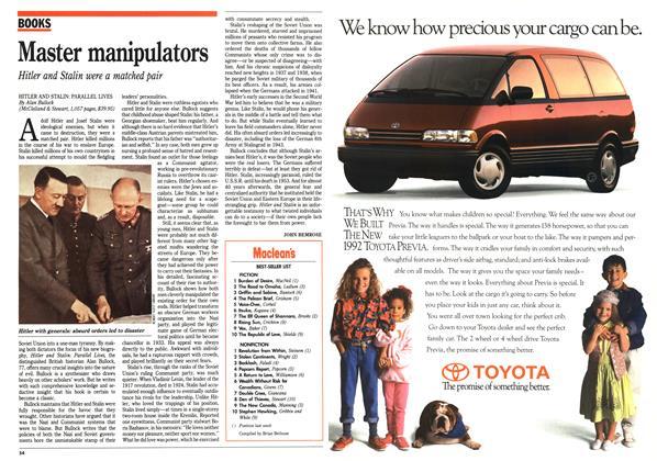 Article Preview: Master manipulators, April 1992 | Maclean's