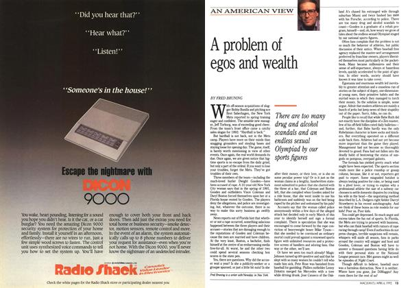 Article Preview: A problem of egos and wealth, April 1992 | Maclean's