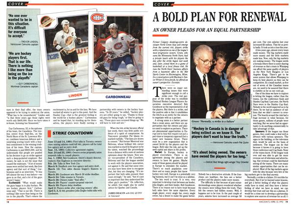 Article Preview: A BOLD PLAN FOR RENEWAL, April 1992 | Maclean's