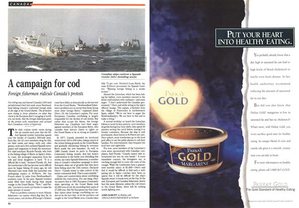 Article Preview: A campaign for cod, April 1992 | Maclean's