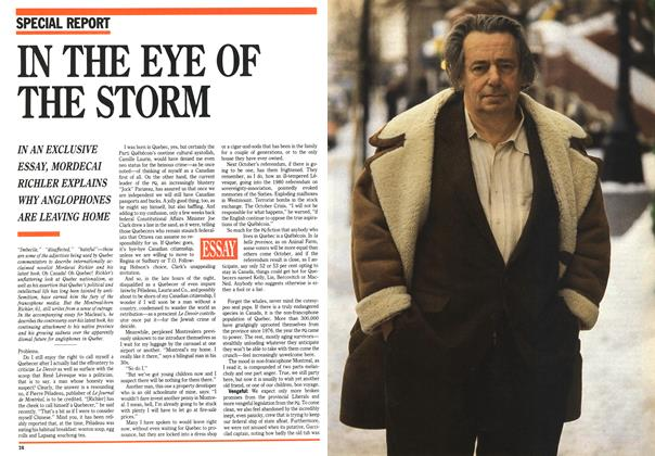 Article Preview: IN THE EYE OF THE STORM, April 1992 | Maclean's