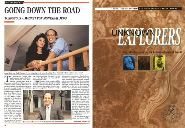 Article Preview: GOING DOWN THE ROAD, April 1992 | Maclean's