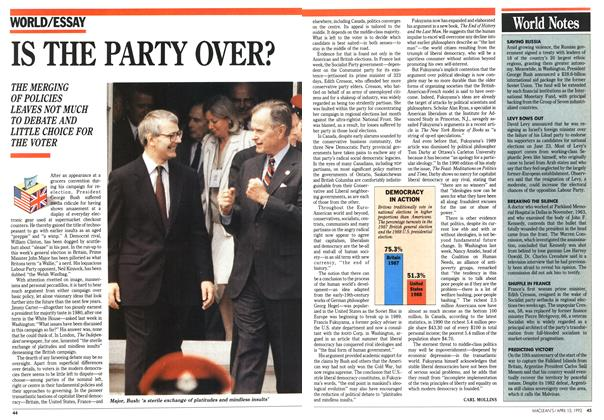 Article Preview: IS THE PARTY OVER?, April 1992 | Maclean's